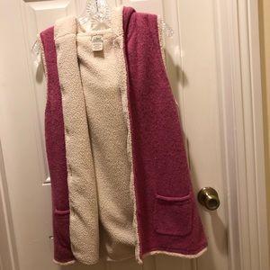 L. L. Bean Sherpa lined hooded vest